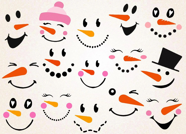 Snowman Faces Svg Snowman Face Printable Christmas Svg