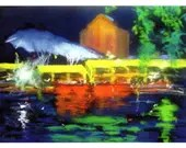 Lights at Clarke Quay Singapore - Greeting Card - Pack of 4 cards