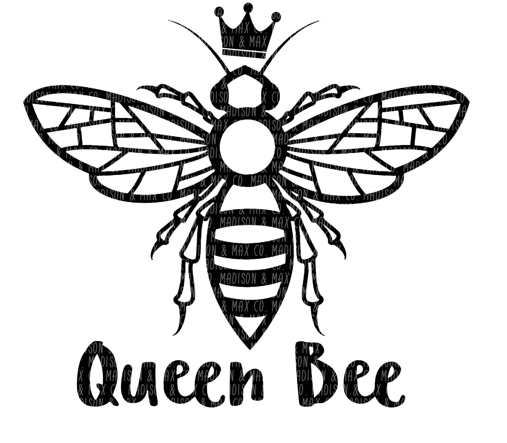 Queen Bee Dxf Silhouette Files Cricut
