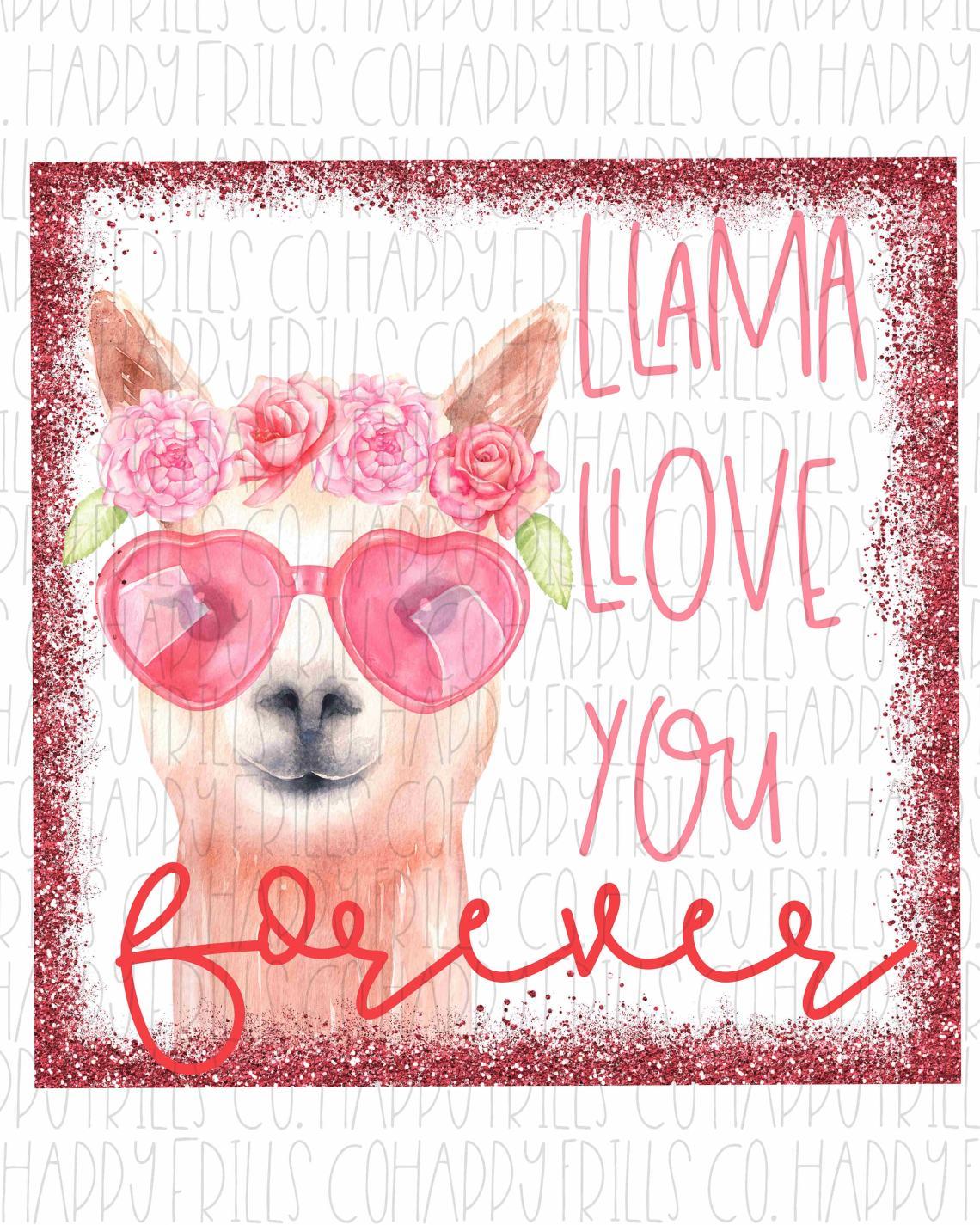Download Llama love you forever design Digital image png instant ...