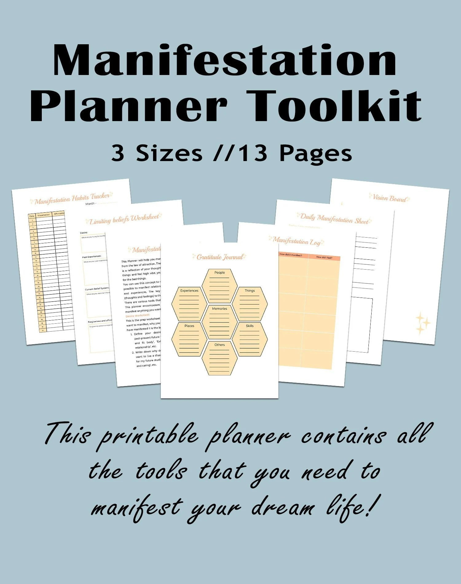 Printable Manifestation Journal Law Of Attraction Tools