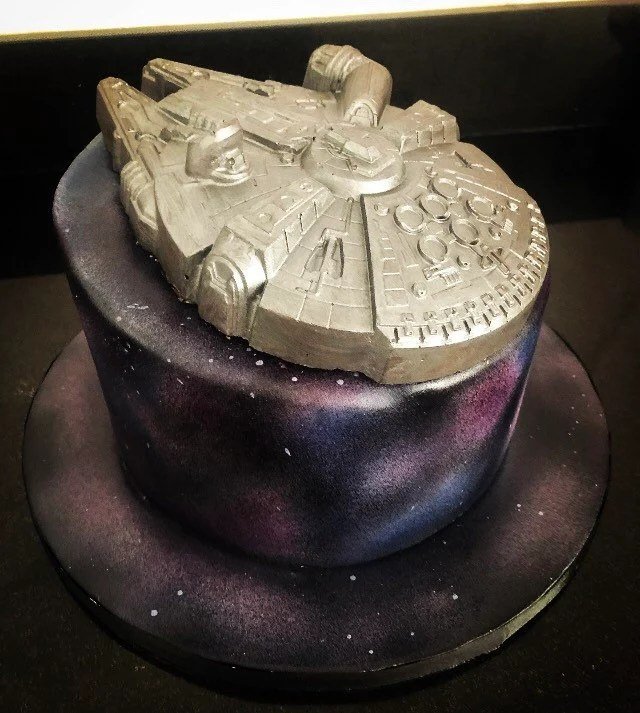 Solid Chocolate Millenium Falcon Cake Topper Star Wars Etsy