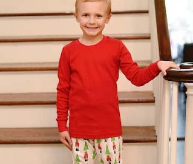 Boys Monogrammed Nutcracker Christmas Pajamas Organic Cotton