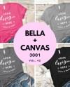 Bella Canvas 3001 Bundle T Shirt Mockup Flat Lay Collection Etsy