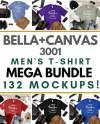 Men S Bella Canvas 3001 T Shirt Mockup Mega Bundle Male Etsy