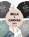 Heather Bella Canvas Mockup Bundle 3001 T Shirt Bundle Black Etsy