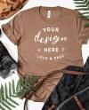 Heather Brown Bella Canvas 3001 Autumn Fall T Shirt Mockup Etsy