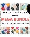 Bella Canvas 3001 T Shirt Mockup Mega Bundle 168 High Etsy