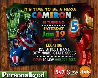 avengers birthday invitation etsy