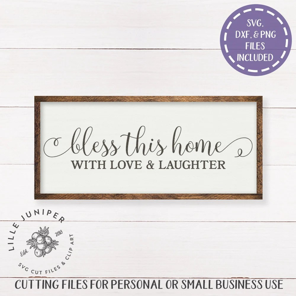 Download Farmhouse svg Bless This Home With Love and Laughter svg ...