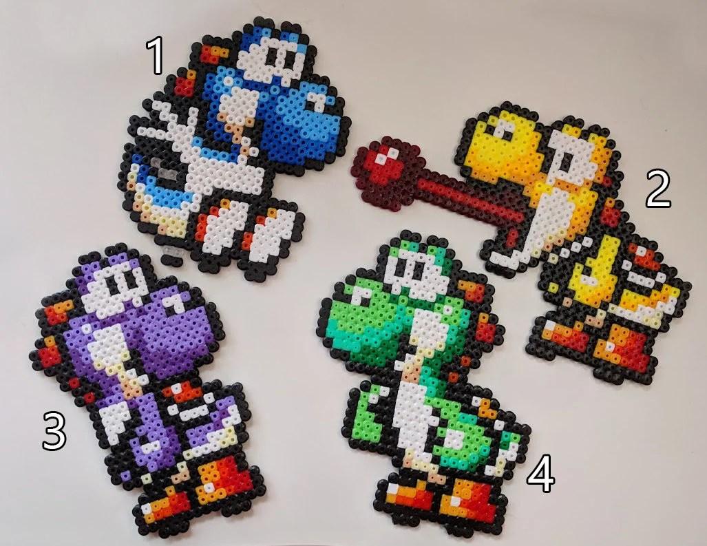 Perler Bead 3d Super Mario Yoshi Youtube