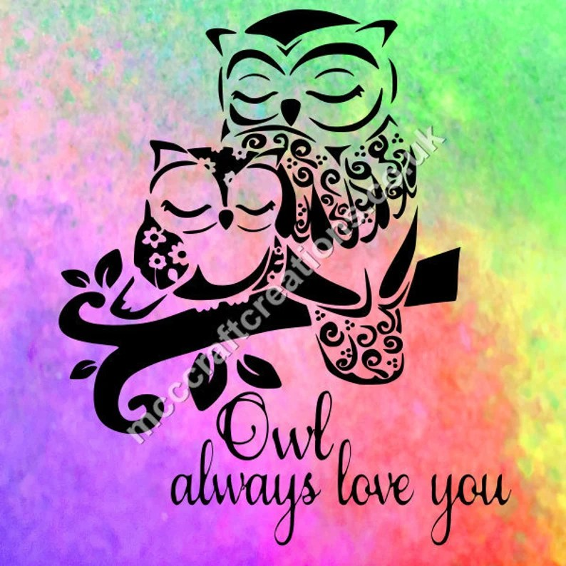 Download Owl always love you svg cricut silhouette cutting file | Etsy