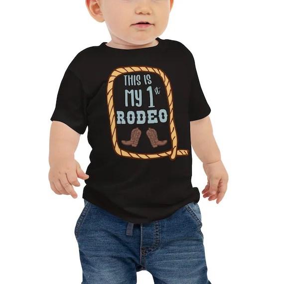Baby Boy First Birthday Shirt Cowboy Birthday This Is My 1st Etsy