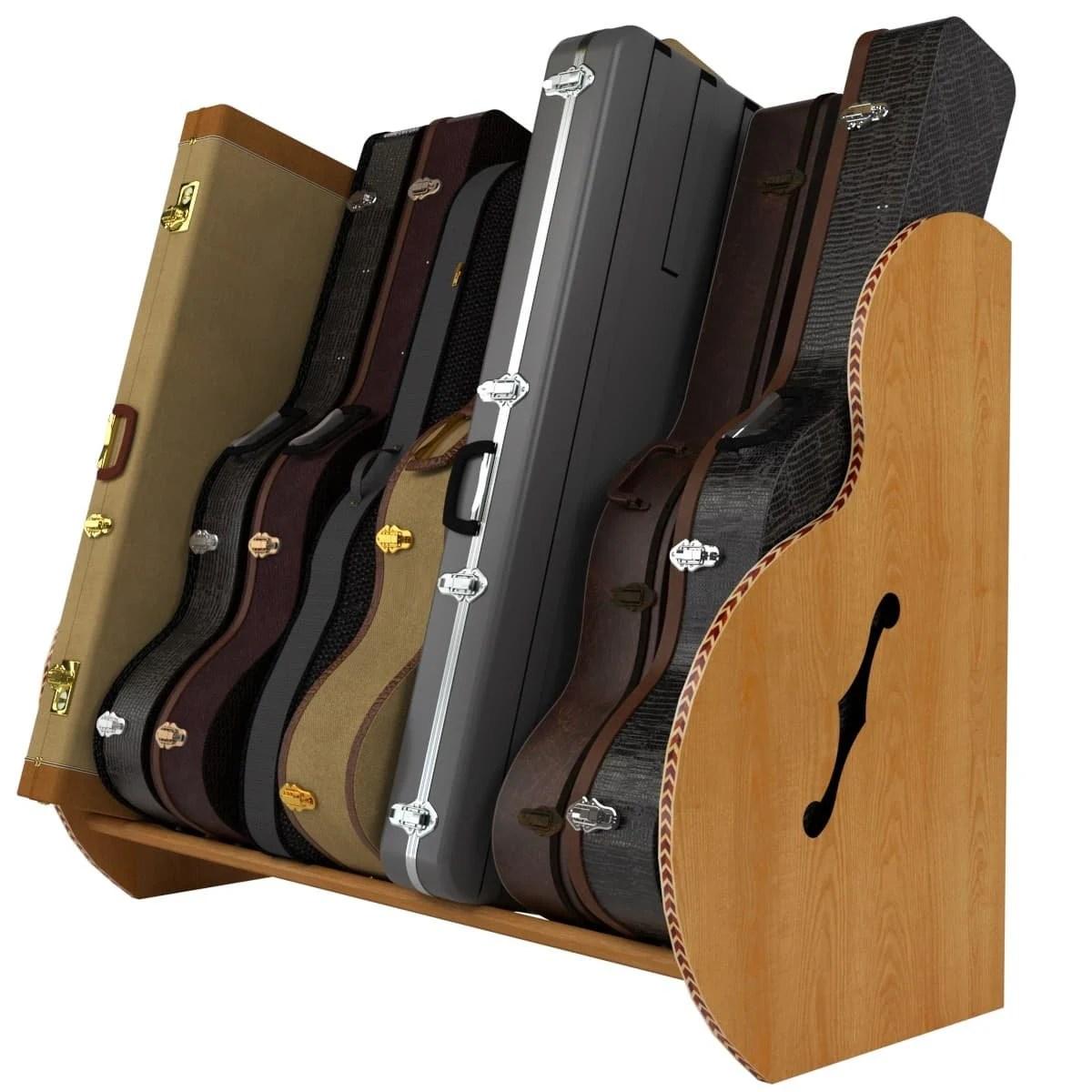 the studio deluxe multiple guitar case storage rack etsy