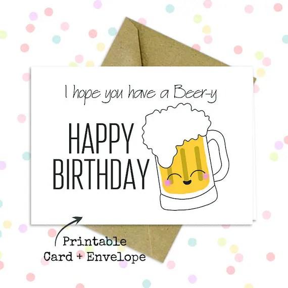 Pun Card For Him Birthday Pun Card Funny Husband Card Etsy