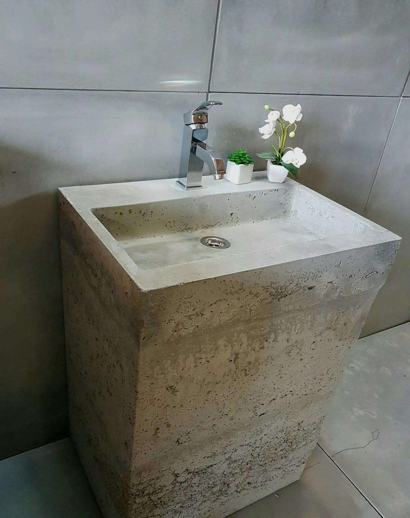 concrete vanity sink unit