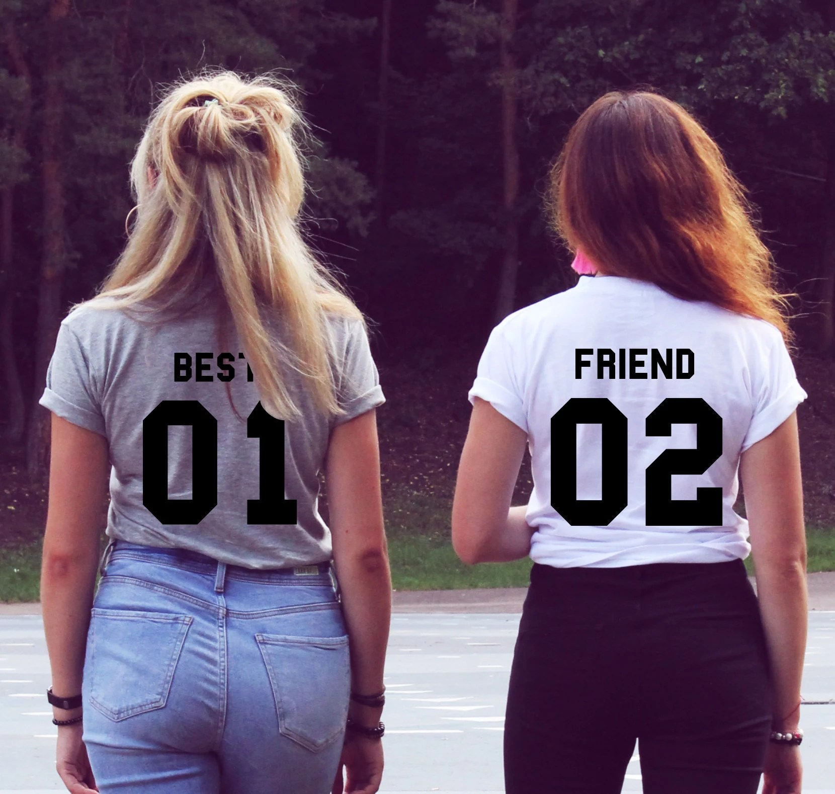 Best Friend T Shirts Set Gift For Birthday Friends Matching Etsy