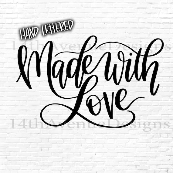 Download Made With Love SVG Cut File Christmas Gift Tag PNG Hand   Etsy