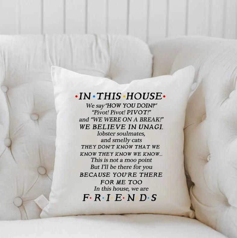 friends pillow etsy