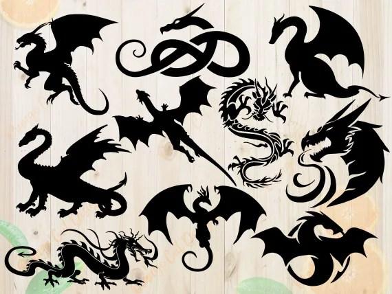 Download Dragons Svg Bundle Dragons Dxf Dragon cut file Dragon Svg ...