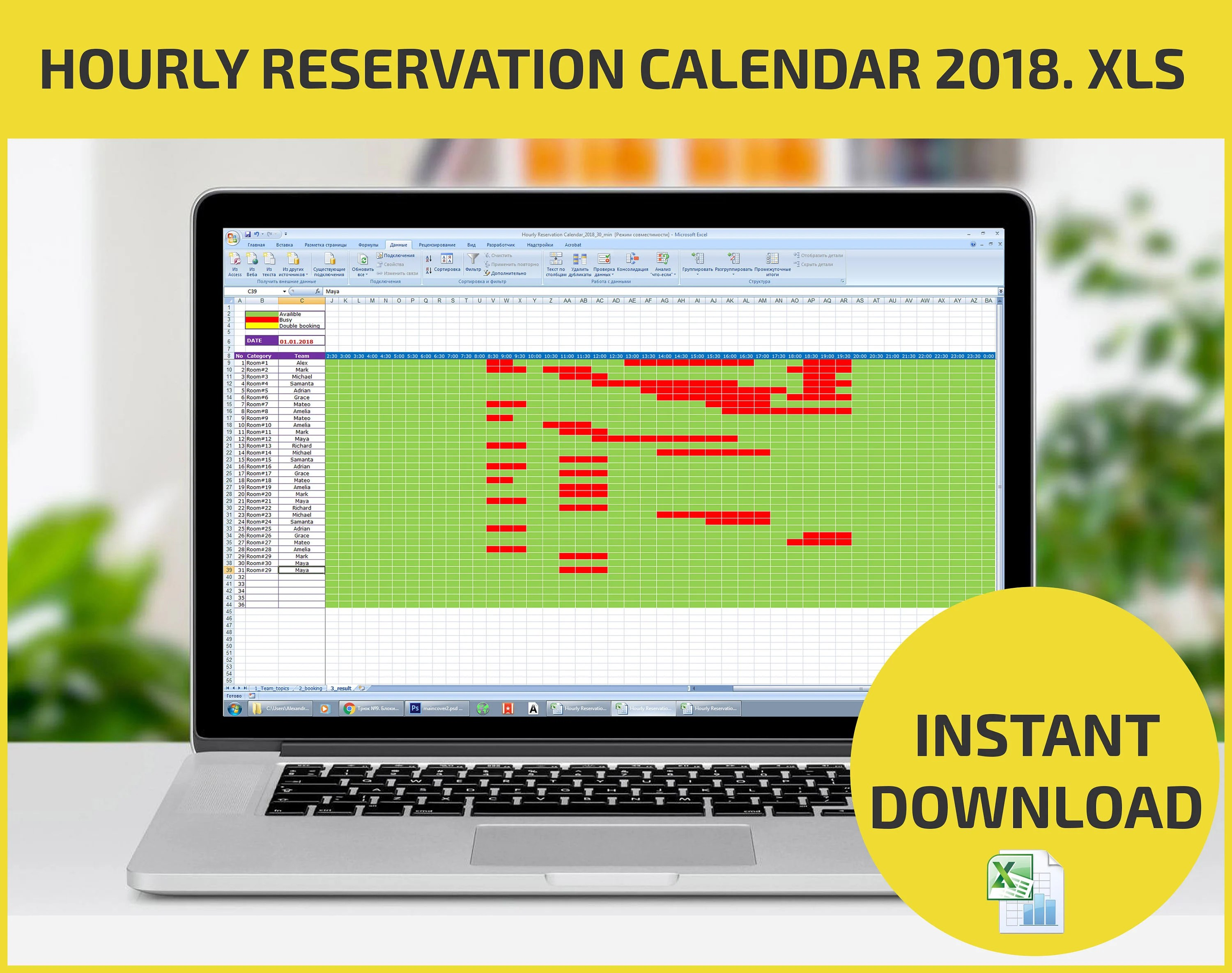 Appointment Scheduling And Hourly Reservation Booking Calendar