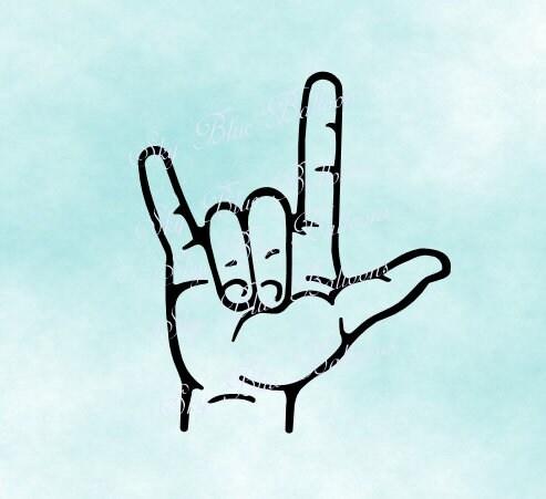 Download ASL Svg American Sign Language SVG Love Sign Svg I Love ...