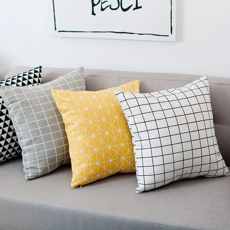 a set of 4 geometric decorative pillow cover throw pillow sets 4 couch pillows set sofa pillows set bed pillows set