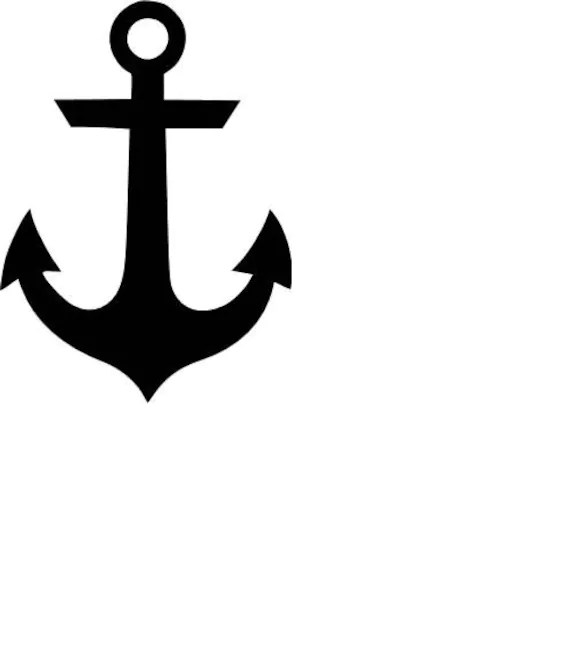 Download Anchor SVG Cutting File | Etsy