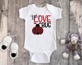 Valentine's Day Little Love Bug Bodysuit Toddler Shirt, Valentine Love Shirt,  Newborn Baby Outfit,  Baby Shower Gift, Take Home Outfit