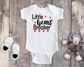 Little Heart Breaker Personalized Bodysuit, Baby Girl Clothes, Baby Boy Clothes, Toddler Valentines Day Shirt, Valentines Day Outfit