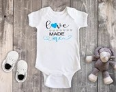 Love Made Me Bodysuit, Newborn Baby Outfit, Baby Shower Gift,  Baby Boy Outfit, Take Home Outfit, Hospital Outfit