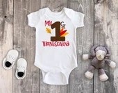 My First Thanksgiving Bodysuit Toddler Shirt, Thanksgiving Shirt, Newborn Baby Outfit,  Baby Shower Gift, Take Home Outfit