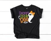 Daddy's Little Boo Halloween Shirt, Girl Halloween Shirt, Holiday Outfit, 1st Halloween Outfit, Toddler Halloween Shirt