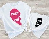 Set of 2, Mommy and Me Outfits, Daddy and Me Outfit, Sibling Matching Shirts, Partners in Crime Matching Shirt Set, Family Shirt Set
