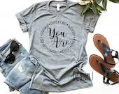You Are Important Kind Worthy Loved Capable Strong Enough Inspirational Shirt, kind shirt, Woman Tee, Mom Shirt, Gift for Mom, Teacher Gift