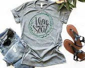 Then Sings My Soul Shirt, Christian Shirt, Woman Tee, Mom Shirt, Gift for Mom, Boyfriend Style Tee