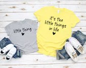 Set of 2, Mommy & Me Outfit, It's the Little Things in Life, Little Thing, mom and daughter, mom and son, pregnancy announcement,