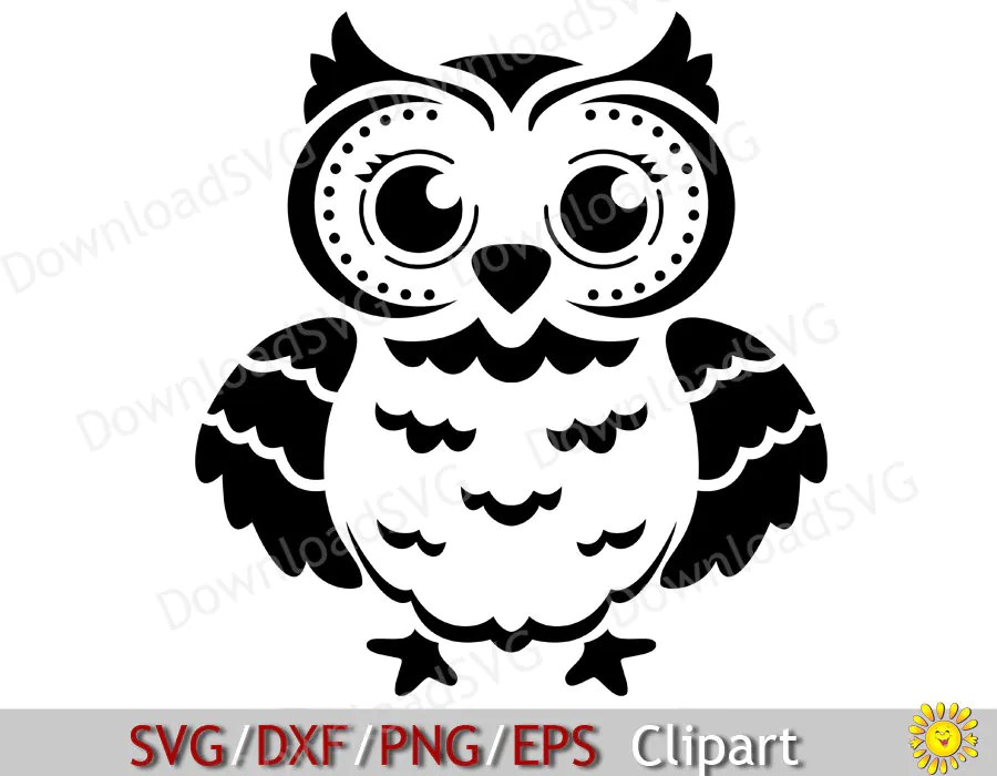 Download SVG OWL cutting file for Vinyl Transfer Cricut Silhouette ...