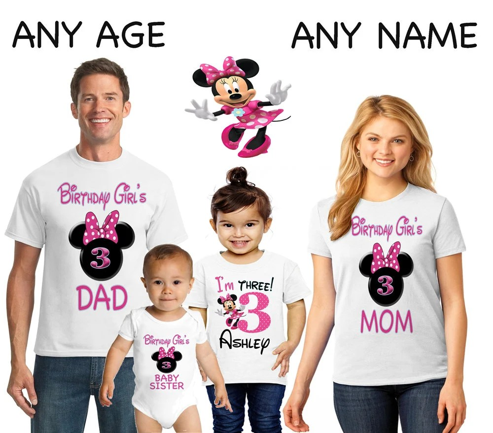 Minnie Mouse Birthday T Shirt Minnie Mouse Family Birthday Etsy