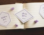 Geometric Wedding Place Cards   Hexagon Escort Cards   Diamond Escort Cards   Custom Place Cards   Seating Assignments   Wedding Table Decor