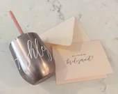 Bridesmaid Proposal Gift | Bridesmaid Wine Tumbler | Bridal Party Gift Set | Bridesmaid Proposal Card | Personalized Wine Tumbler