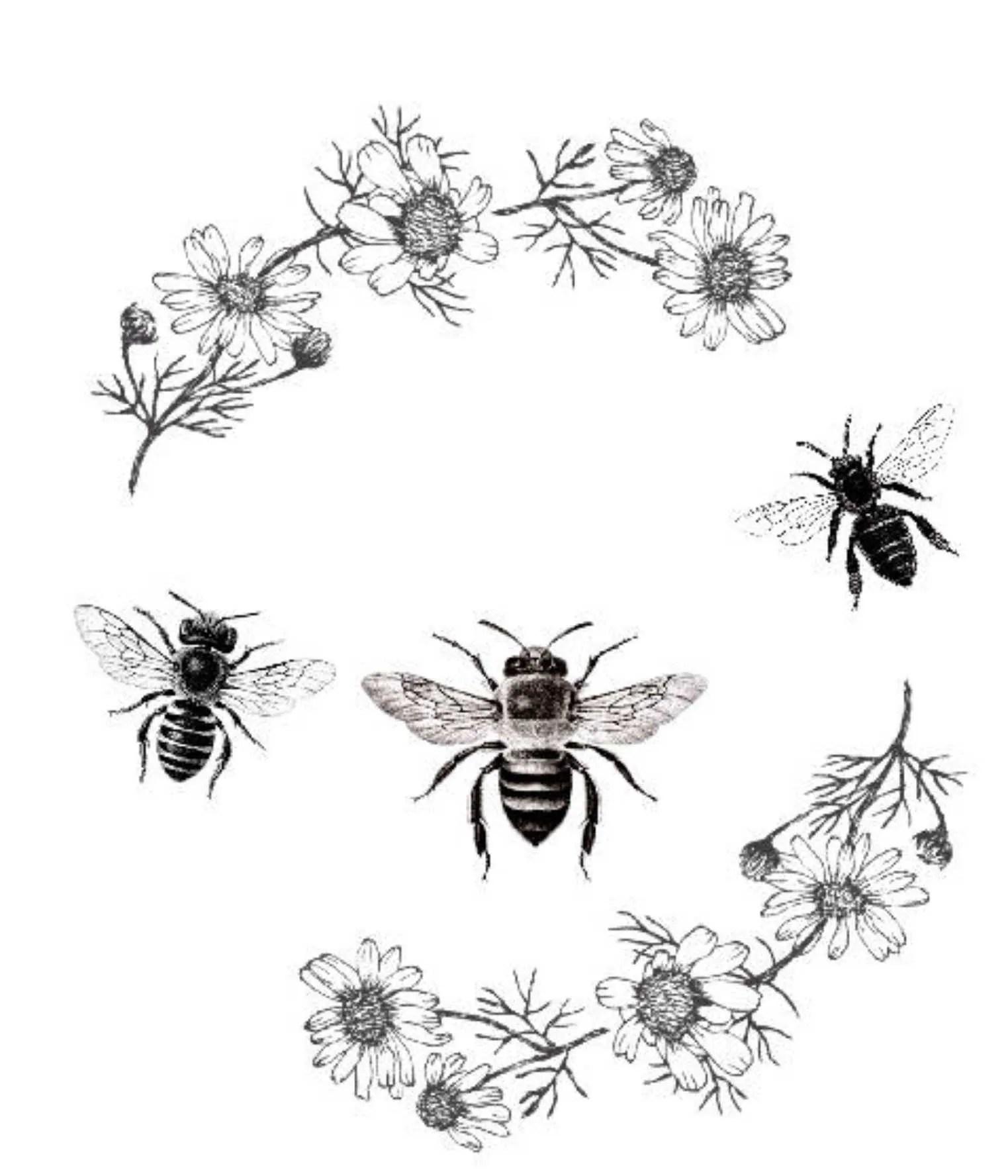 Biene Druck Bee Clipart Biene Poster Jahrgang Blumen Wand