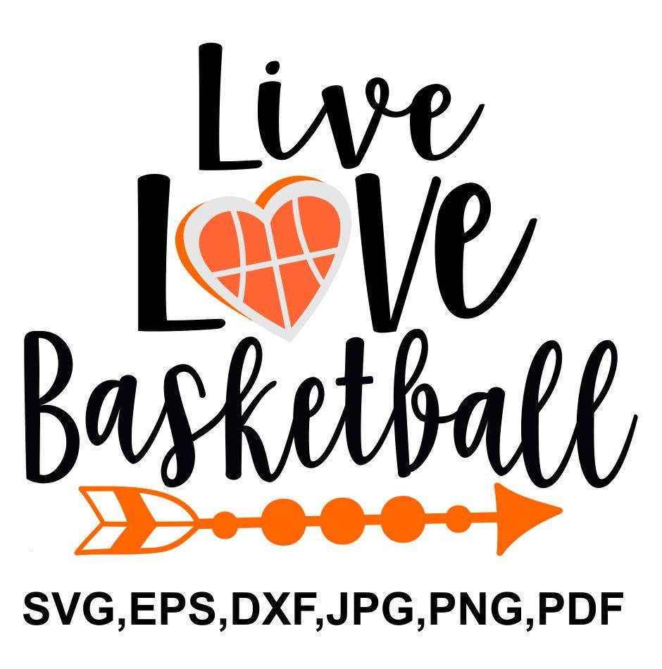 Download live love basketball svg file Basketball SVG file   Etsy