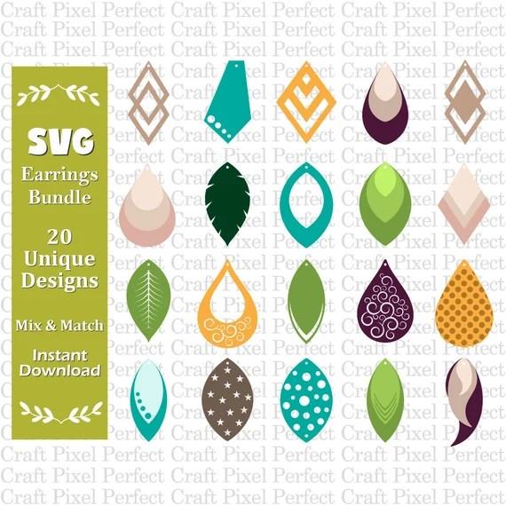 Download Earrings Template Svg Faux Leather Earrings Svg Earrings ...