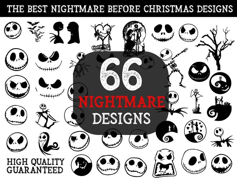 Download 66 Nightmare Before Christmas SVG Nightmare SVG Jack | Etsy
