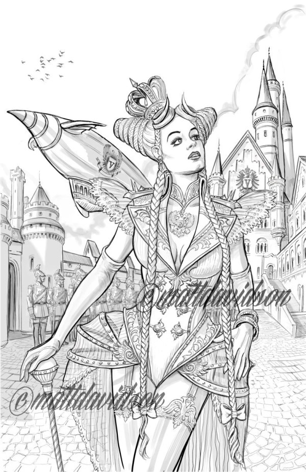 fantasy coloring pages for adults # 35