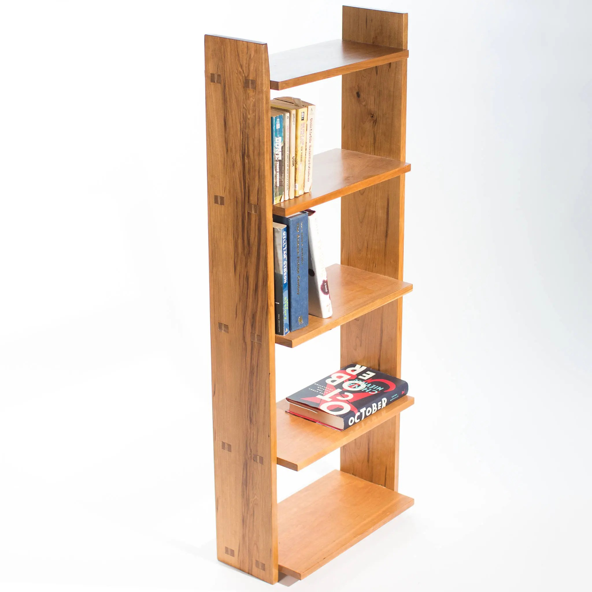 Open Back Bookcase North American Hardwood Medium Size