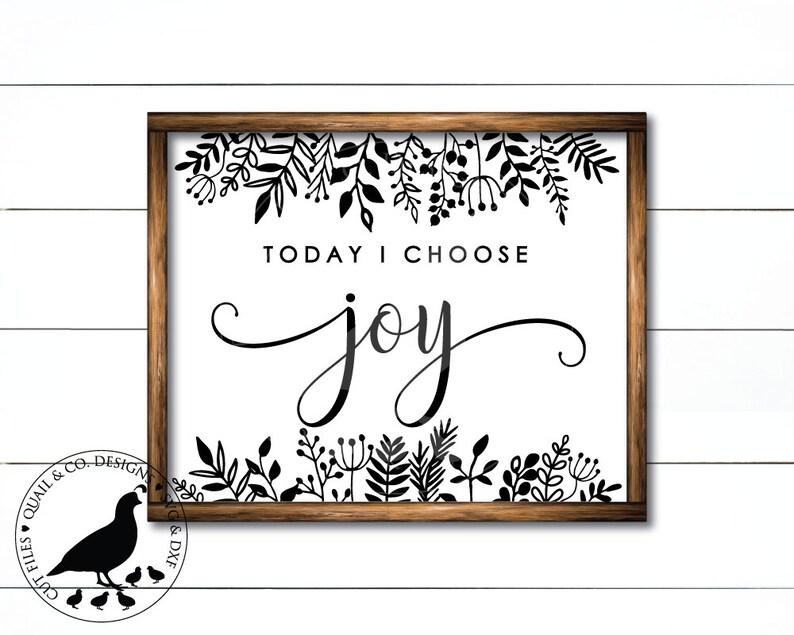 Download Today I Choose Joy svg Choose Joy Sign svg Branches svg   Etsy