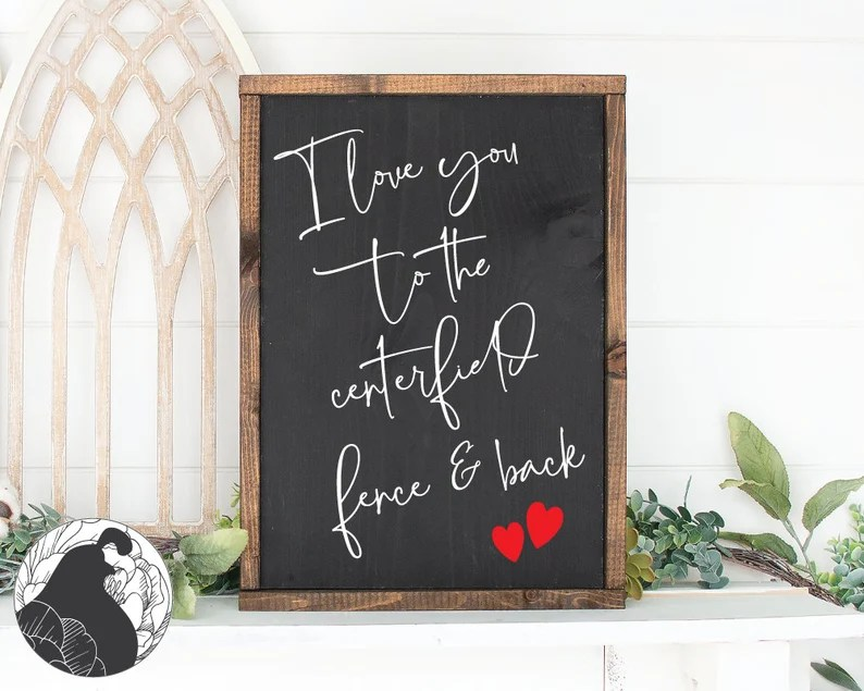 Download I Love You to the Centerfield Fence and Back SVG Baseball ...