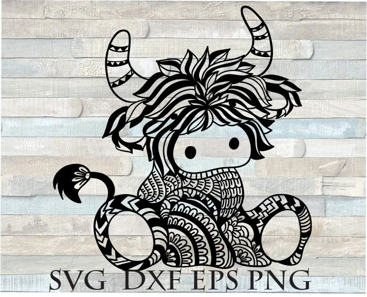 Download Highland cow svg / baby cow svg file for cricut longhorn ...